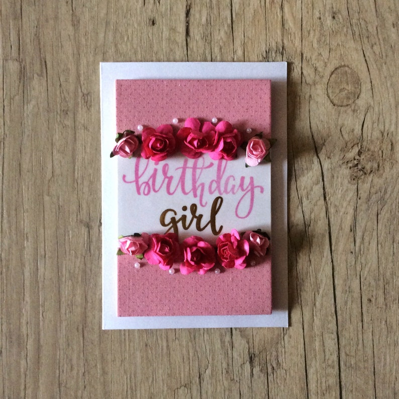 Birthday Girl Card For 3D Handmade