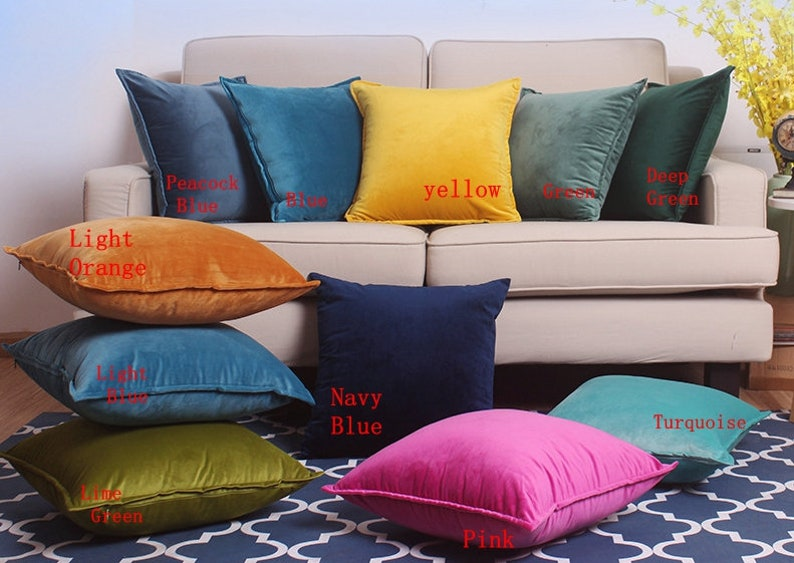 Pillow Covers Throw Pillow Covers Cushion Cover Velvet image 0