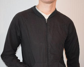 worn AMERICAN APPAREL black bomber size S