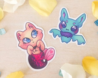 Bat and Cat Stickers