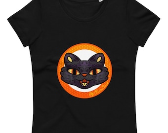 Black Cat's Meow Women's fitted eco tee