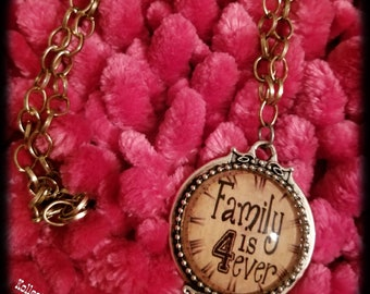 Family Forever Bronze Necklace