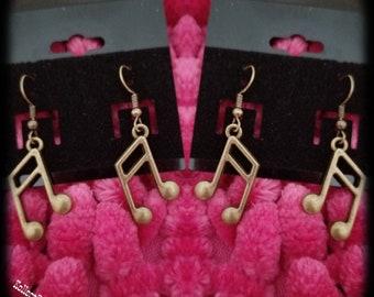 Bronze Melodic Drop Earrings