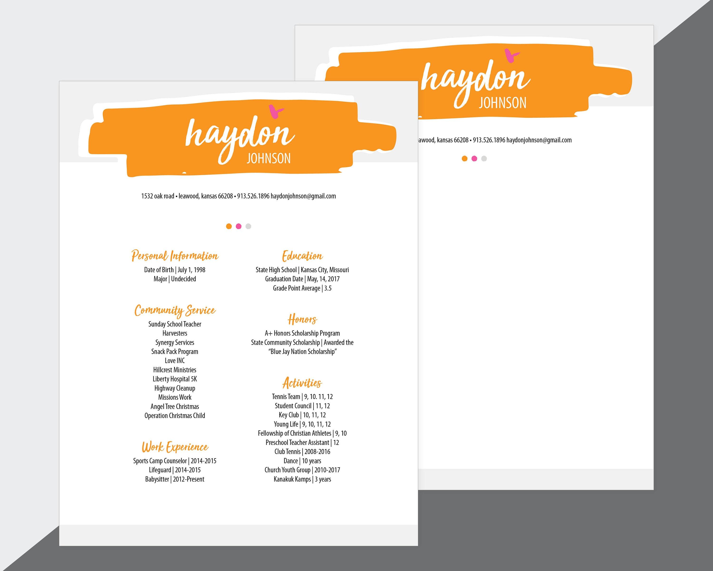 Custom Sorority Recruitment Resume and Cover Letter / Orange | Etsy