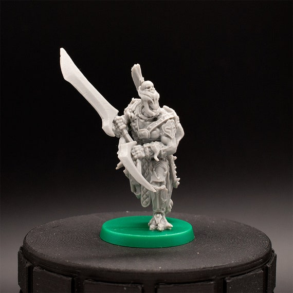 Demon Lord D/&D Bul/'Gar Unpainted Miniature Baphomet Warrior Hate