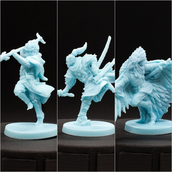 Unpainted Miniature Dragonfly D/&D Rising Sun Tengu Warrior