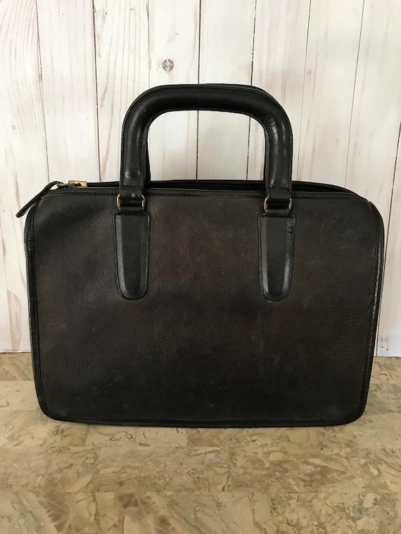 Bonnie cashin vtg leather portfolio/briefcase 3230