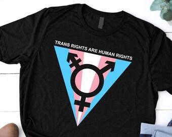 49ecc365 Trans Rights Are Humans Rights Unisex T-Shirt, Transgender Tee shirt,  Transsexual Sayings Shirt, Trans Pride Tshirt, Trans Clothing