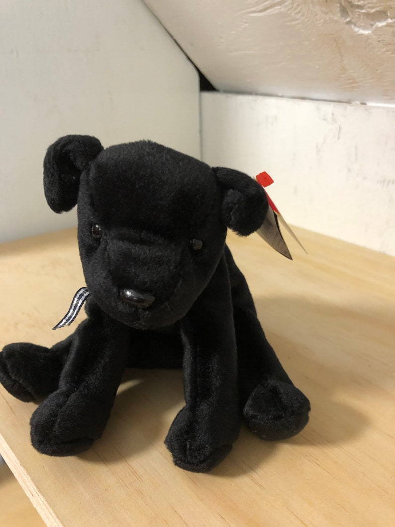 Luke Beanie Baby TY Beanie Baby black lab Luke with errors  ba56abe61b3