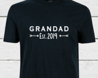 bfb510ee New Grandad T-shirt, Grandad Established, Grandad T-Shirt, 2019, Grandad  Pregnancy Announcement, Proud Grandad,