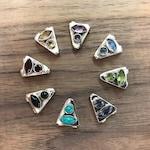 Nina Designs Sterling Silver Mala Guru Bead w/ Gemstones