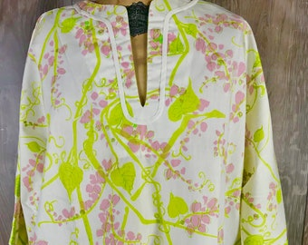 959acadb61a01 Vtg Vanda Key West Hand Print Fashions Tunic Beach Pool Cover Up Lilly  Pulitzer