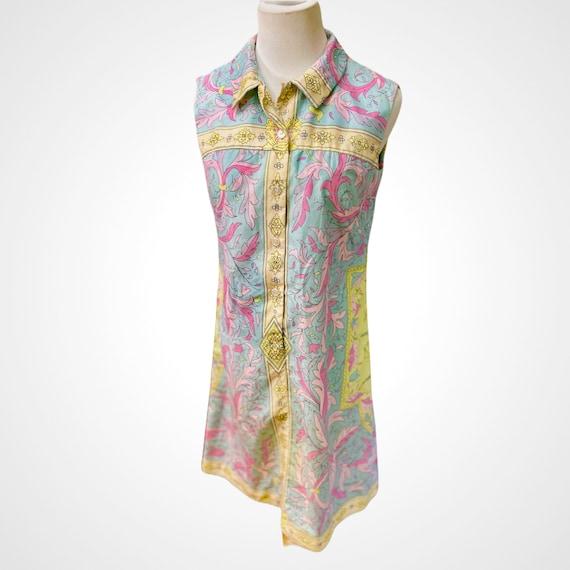 VTG 1960's McMullen Bright Pastel Light Cotton Shi