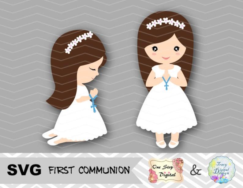 0035 First Communion SVG cut file First Communion Girl SVG Cricut Svg File First Communion Girls Design Girl First Communion SVG files