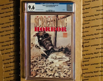 Scarce Original Horror Comic - Tales of Screaming Horror #1 CGC 9.8 w/ White Pages! Story, Art & Cover by The Gurch! A Rare Halloween Treat!