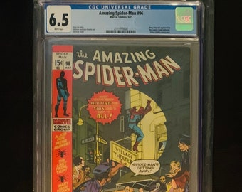 Amazing Spider-Man #96 CGC 6.5 w/ White Pages! 1971 Drug story not approved by Comics Code Authority. Green Goblin appearance. Classic Issue
