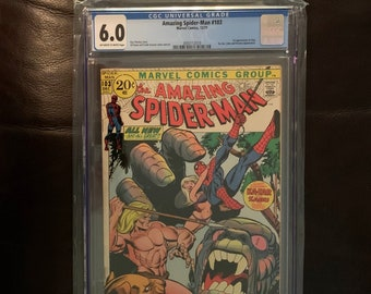Amazing Spider-Man #103 CGC 6.0 Certified 1971 Gog 1st Appearance, Ka-Zar and Kraven Appearances. Marvel Comic w/ Off White to White Pages.