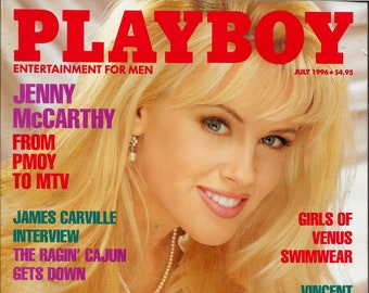 Playboy Jenny Mccarthy Dec 1996 Al Pachino Mike Wallace Sex Etsy