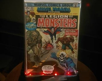 Legion Of Monsters 1st Appearance! Morbius, Ghost Rider, Swamp Thing & the Wolf Man! in Marvel Premiere #28 Feb. 1976 High Grade Bronze Age