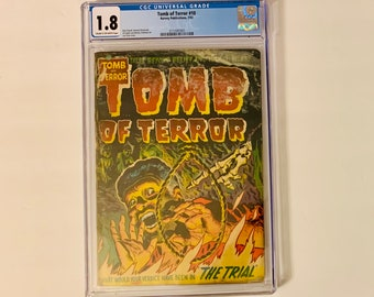 Pre Code Horror Comic: Tales of Terror #10 CGC Graded 1953 Hanging Cover. Vintage  0.10 Cent- Golden Age Horror Comic Book.