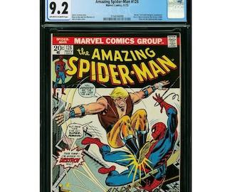 Amazing Spider-Man #126 CGC 9.2 John Romita Cover. Harry Osborn becomes the Green Goblin. Spider-Man fights the Kangaroo. Human Torch cameo