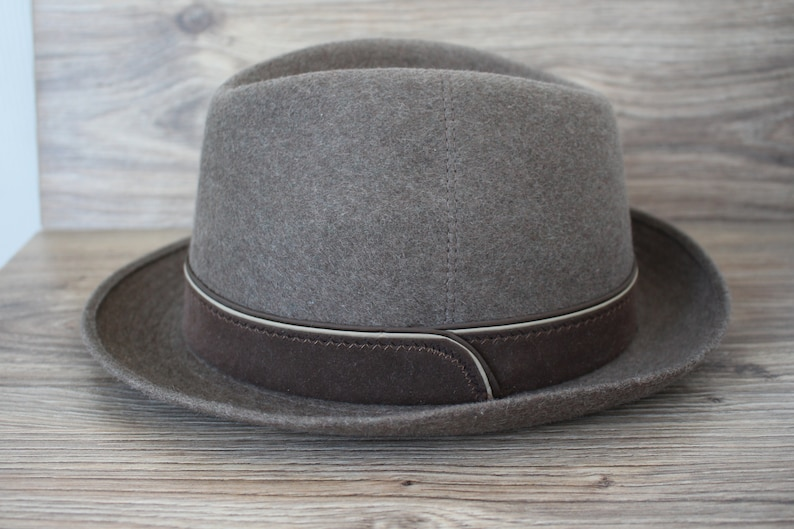 4942b127e7bf8 Vintage Bristol wool hat Brown wool felt men s hat Fedora