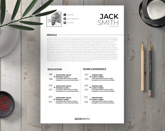 Word Resume Template Modern Cv