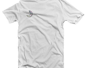 Holographic Dripping Moon Tee