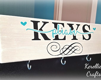 Wooden key holder sign