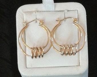 14K Geometric Design Earrings
