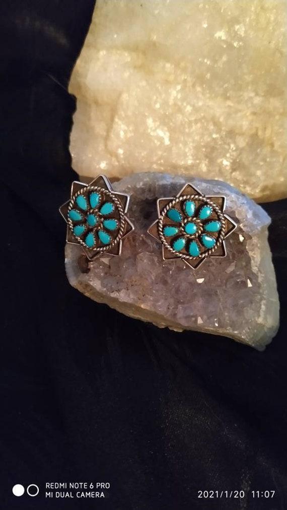 Southwestern Style Indigenous Zuni Sterling Silver