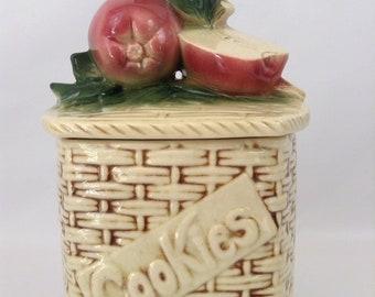 Vintage McCoy Apple On A Basket Cookie Jar