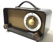 Vintage Zenith AM Portable Radio S-14976 Circa 1940s
