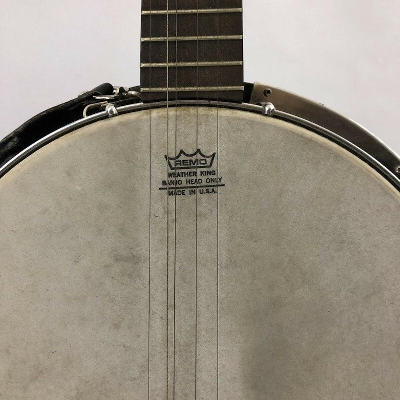 Banjo KJ 420 5 String Vintage Remo Head Kent Neck Solid Back with Hard Case