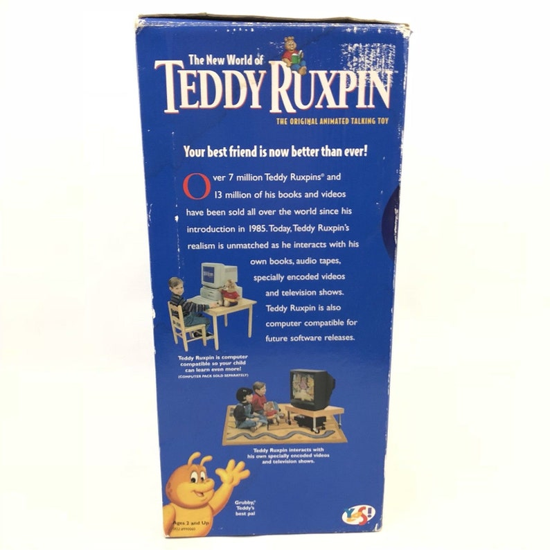 Vintage Teddy Ruxpin in the Original Box 1998 Parts Only