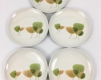 Vintage Mid Century Modern Toyotoki Namiki Salad Plates Set Of 5