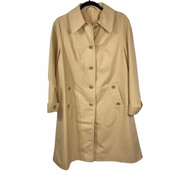 Vintage 60s Khaki Green Light A-line Trench Coat