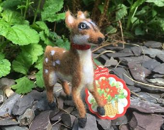 Needle Felted Christmas Deer