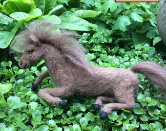 Needle Felted Brown Horse