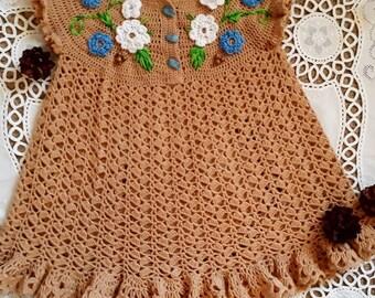Robe pour les filles «prairie de printemps»