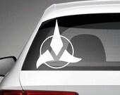 Star Trek Klingon vinyl decal / for Car Laptop Macbook Phone Truck Bumper Window Wall Bathroom Bedroom Door decals sticker logo christmas