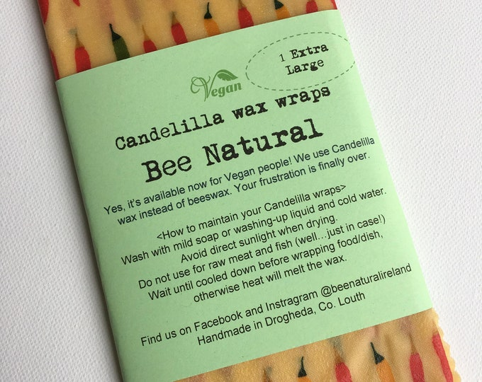 Vegan friendly // Extra large Candelilla wax wrap