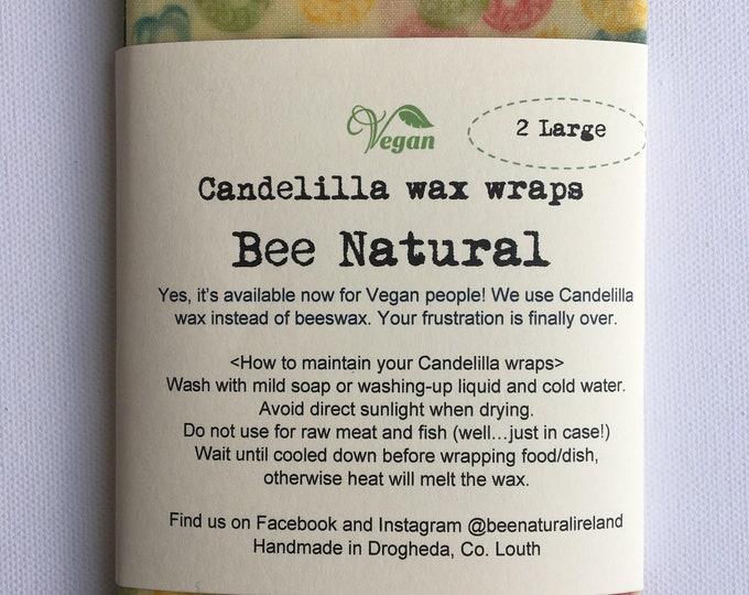 Vegan// Set of 2 Candelilla wax wraps