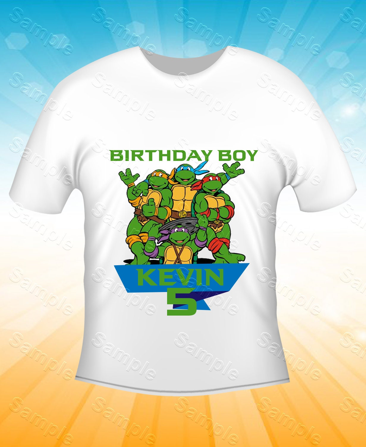 Ninja Turtles Iron On Transfer Ninja Turtles Birthday Shirt | Etsy