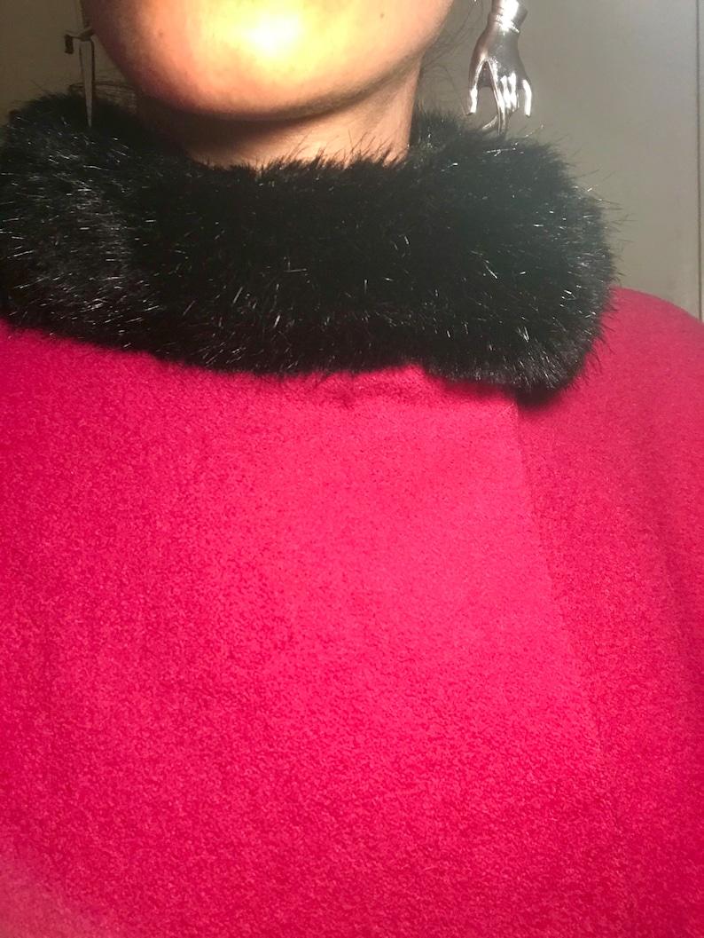 Long Pink 1950/'s Inspired Coat