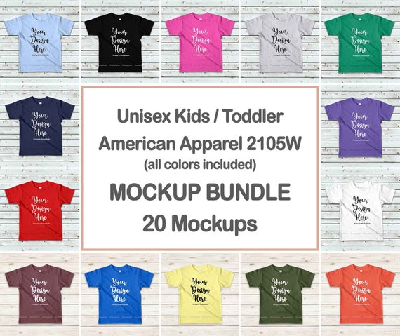 Kids T Shirt Mockup Bundle Toddler Shirt Mock Up Bundle New Best T