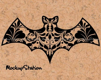 Bat Mandala SVG Zentangle Cut File Scalable Vector