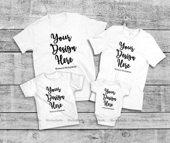 Digital  Mockup White Tshirt MockUp Baby Girl T-shirt Mock Up Flat Lay White T-shirt Image Instant Download Girl Illustration