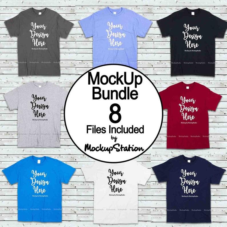 6ff0a0e8 Tshirt Mockup Bundle 8 Colors Gildan 5000 Shirt Mock Up | Etsy
