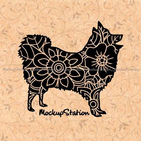 Pomeranian Dog Zentangle Doodle Mandala Svg Dxf Ai Eps Spitz Etsy